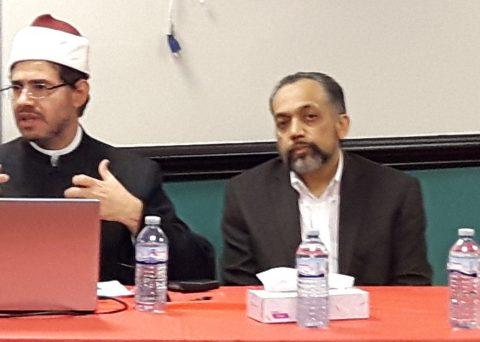 Imam Wael Shehab, Dr. Walele, and Dr. Mucsi