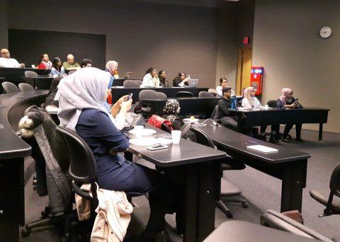 Audience at University of Toronto Scarborough Campus