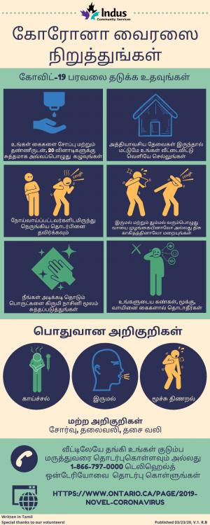 Help Prevent the Spread of COVID-19 -Tamil